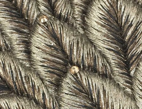 Silver silk thread with Swarovski crystals – 3424