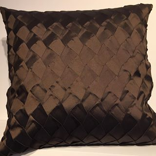 Textured Cushions in Chocolate Brown
