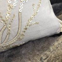Hand Embroidered Mother of Pearl Cushion Designs