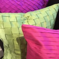 Pleated Cushions in Bright Colours