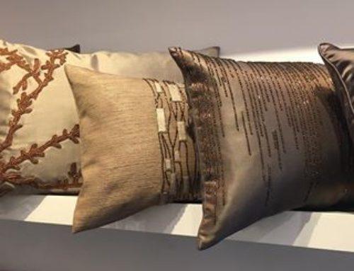 Textured Cushions in Bronze Tones