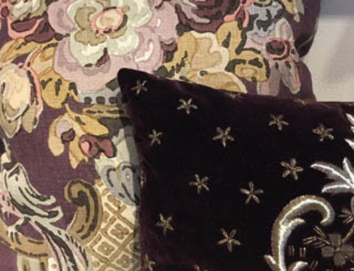 Uniquely Patterned Cushions in Aubergine and Gold